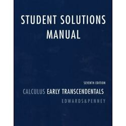 Student Solutions Manual: Calculus Early Transcendentals  (7th Edition)