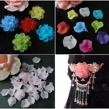 50pc 15mm Acrylic Hairwear Flower Beads DIY craft Petals Jewerly Making Bead