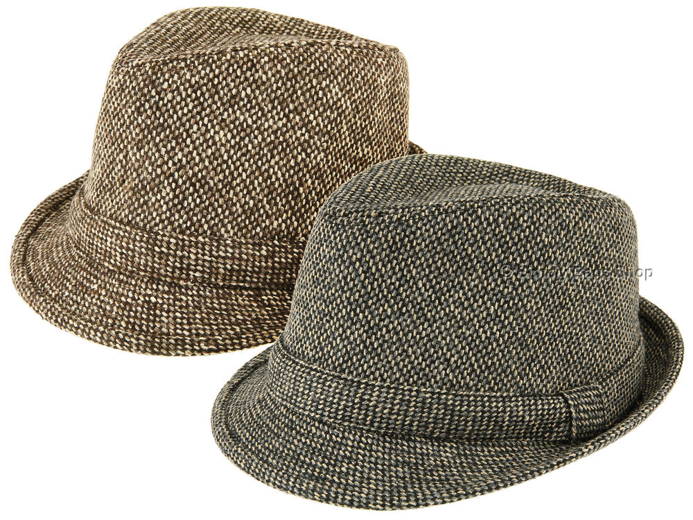 Details about Hawkins Mens Waffle Effect Trilby Hat Headwear With Rolled  Brim Brown or Grey d6c3ea72291