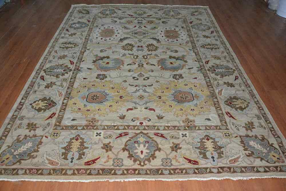 Ind Traditional Hand Knotted 9x12 270x360 Oriental Wool