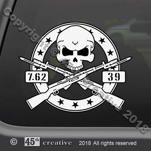 5ed1d9a7 Details about SKS military Rifle Skull Crossbones Decal Russian Soviet  Yugoslavian 7.62x39