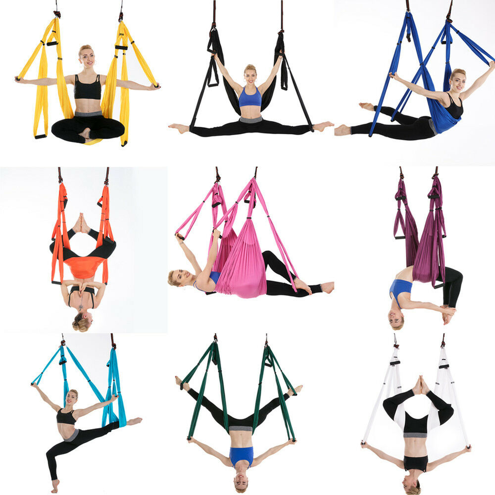 Sports & Entertainment Hot Sale Yoga Hammock High Strength Parachute Fabric Inversion Therapy Anti-gravity Decompression Hammock Yoga Gym Hanging Swing Making Things Convenient For The People