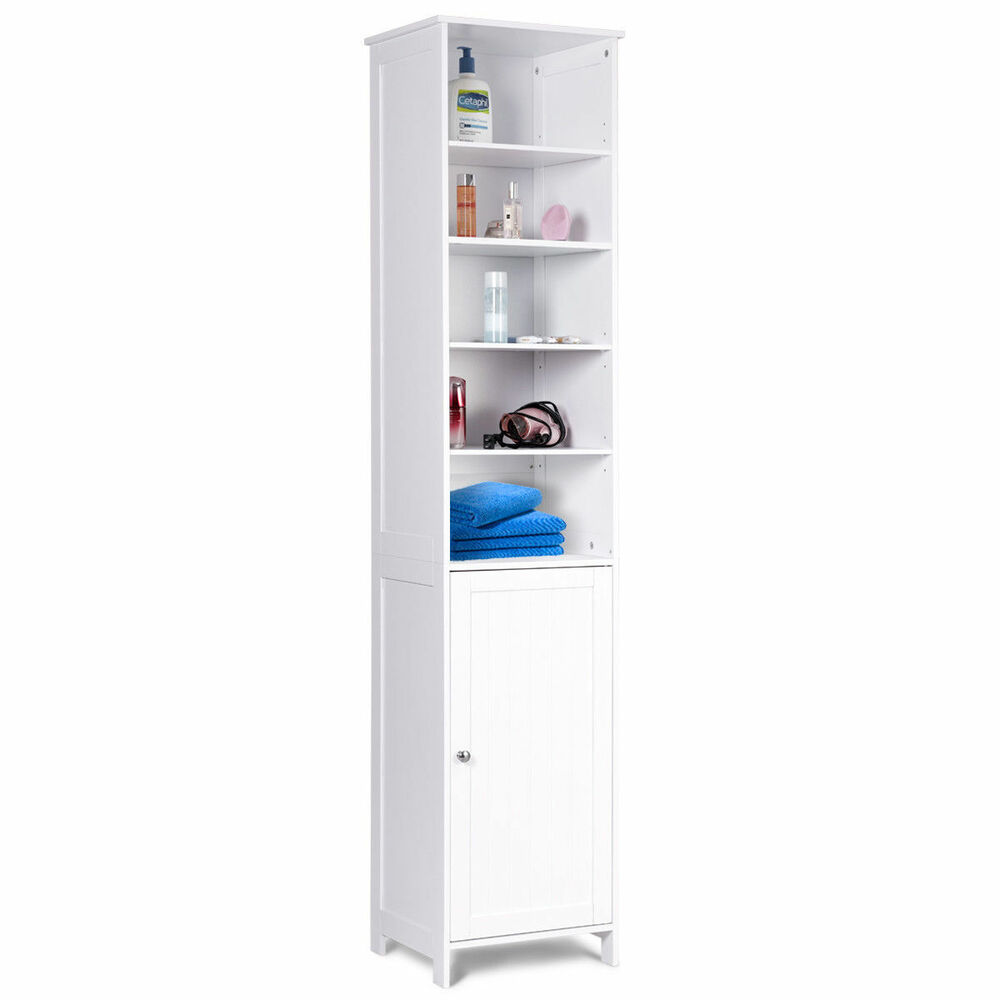 72''H Bathroom Tall Floor Storage Cabinet Free Standing ...