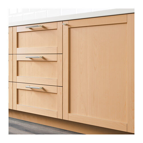 Applad Doors Ikea Kitchen: 1 Ikea Bjorket Birch Cabinet Front Door Faces Sektion