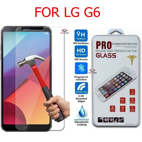 For LG G6 Screen Protector Tempered Glass Anti-Scratch Guard Shield