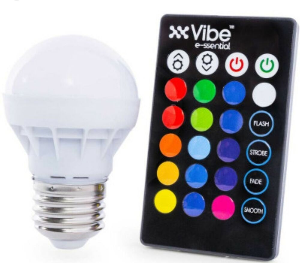 Led Rgb Vibe E Ssential Color Changing Light Bulb With Remote Ebay