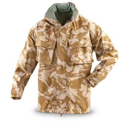 img-Genuine British Army Desert Camo Gortex Jacket, New Large Long, 190/104.