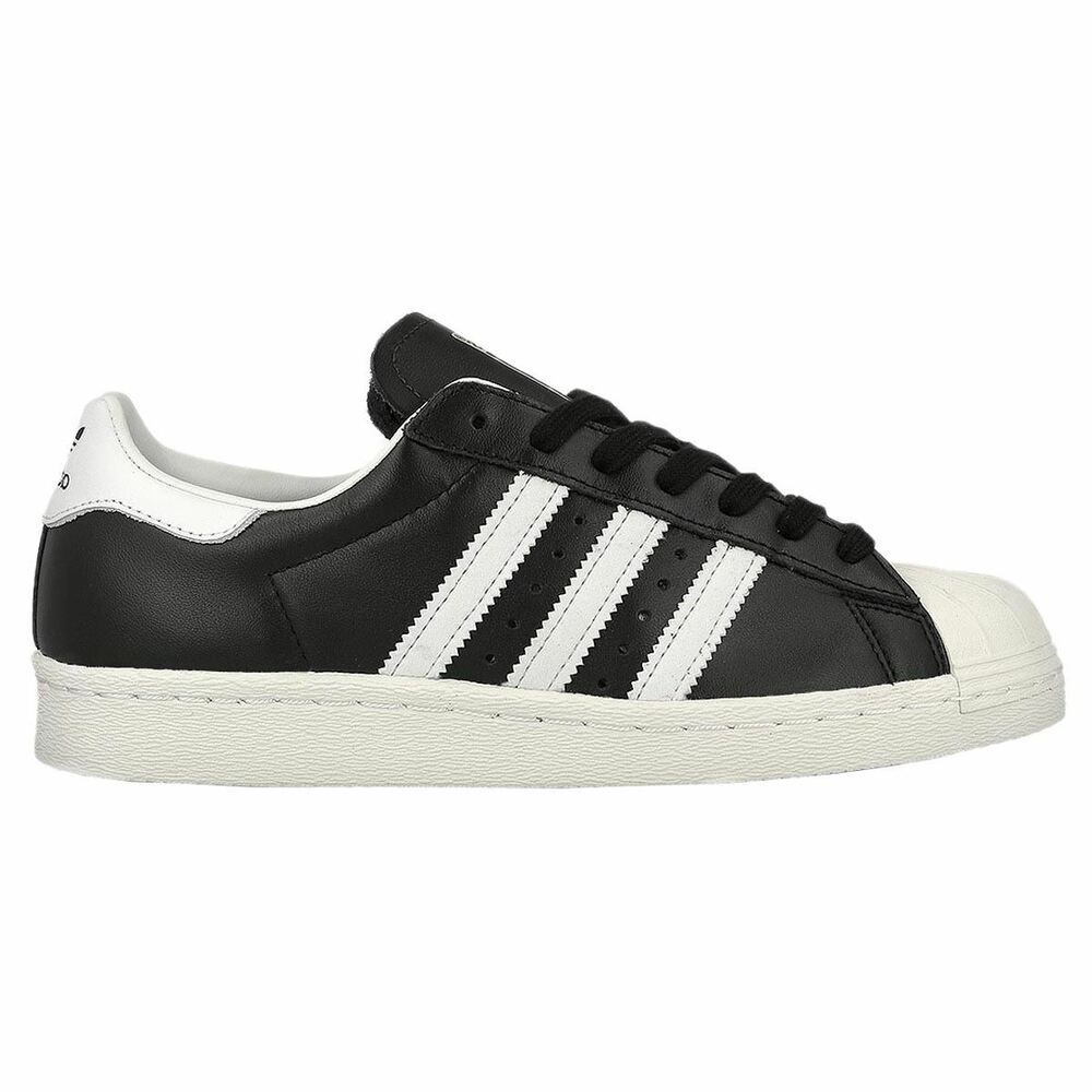 huge discount 3c159 b5091 Details about Adidas Superstar 80s Black White Mens Leather Low-top Sneakers  Trainers New