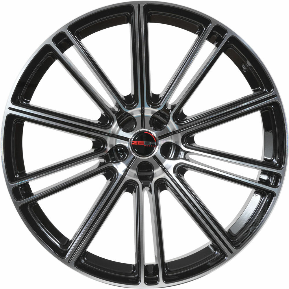 4 GWG Wheels 17 Inch Black Machined FLOW Rims Fits ACURA