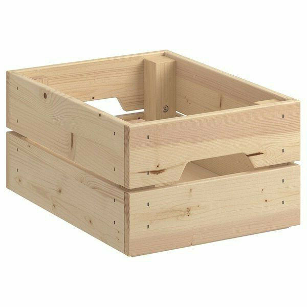 ikea knagglig kasten kiefer 23x31x15 cm aufbewahrungsbox box zb wandregal neu ebay. Black Bedroom Furniture Sets. Home Design Ideas