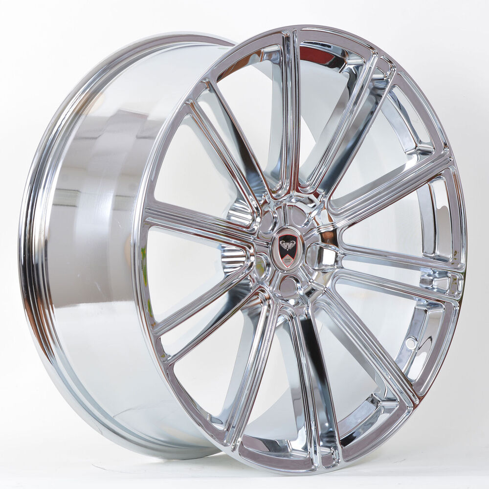 4 GWG Wheels 20 Inch STAGGERED Chrome FLOW Rims Fits