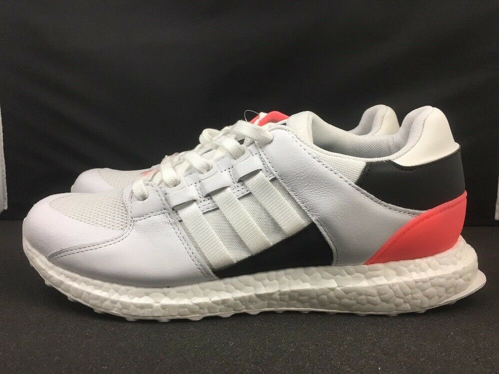 15e3749c91a90 Details about ADIDAS EQT SUPPORT ULTRA RUNNING WHITE CORE BLACK TURBO PINK  BA7474 SZ 9