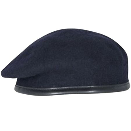 img-ARMY NAVY BLUE BERET OFFICER SILK LINED SMALL CROWN / HOOD BERET REME RLC RE