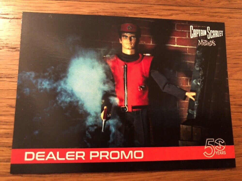 2018 Captain Scarlet /& Mysterons 50 Years Proof Dealer Promo Card MBP1