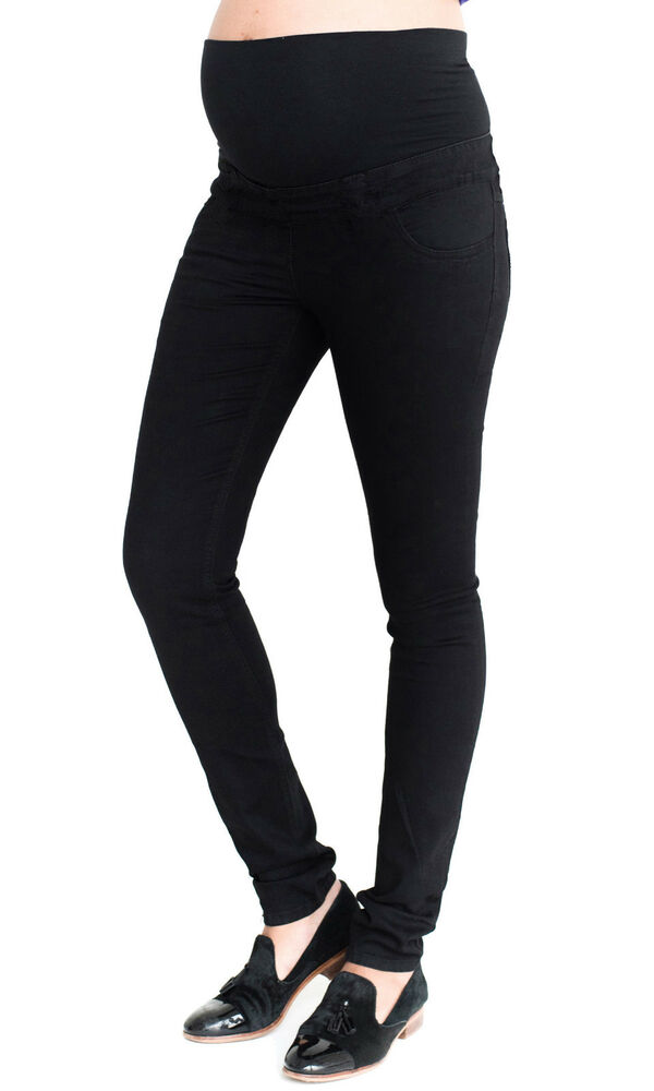 9137ec3a73612 Details about Maternity New Look Over Bump Jeggings, Skinny Black Pregnancy  Jeans Sizes 8-20