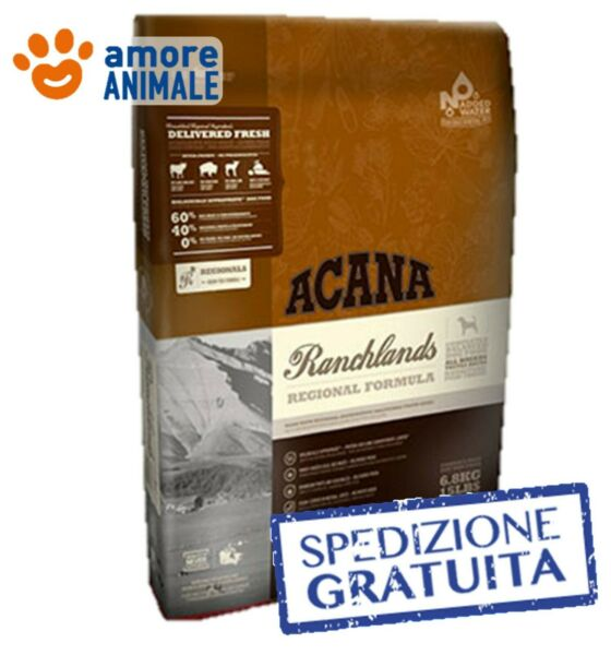 Acana Dog Regional Ranchlands secco in sacco da 11,4 kg - Crocchette cani adulti
