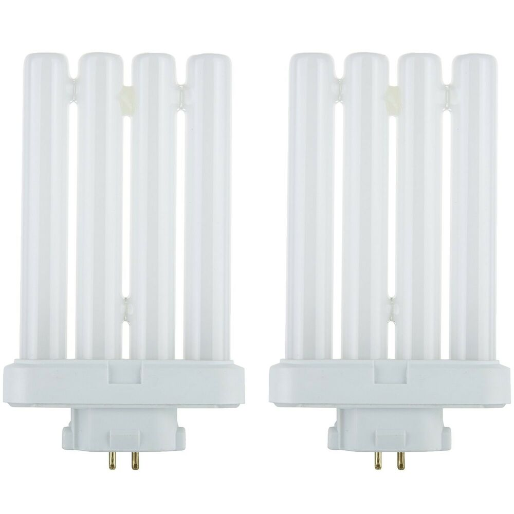 Fluorescent Light Delayed Start: Sunlite Compact Fluorescent 27W Quad Tube GX10Q-4 Base