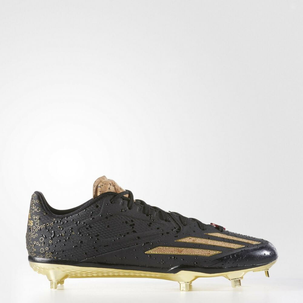 newest f4e05 bbb06 Details about adidas Adizero Afterburner 3 Metal Baseball Cleats Size 13.5 Black  Gold B42914