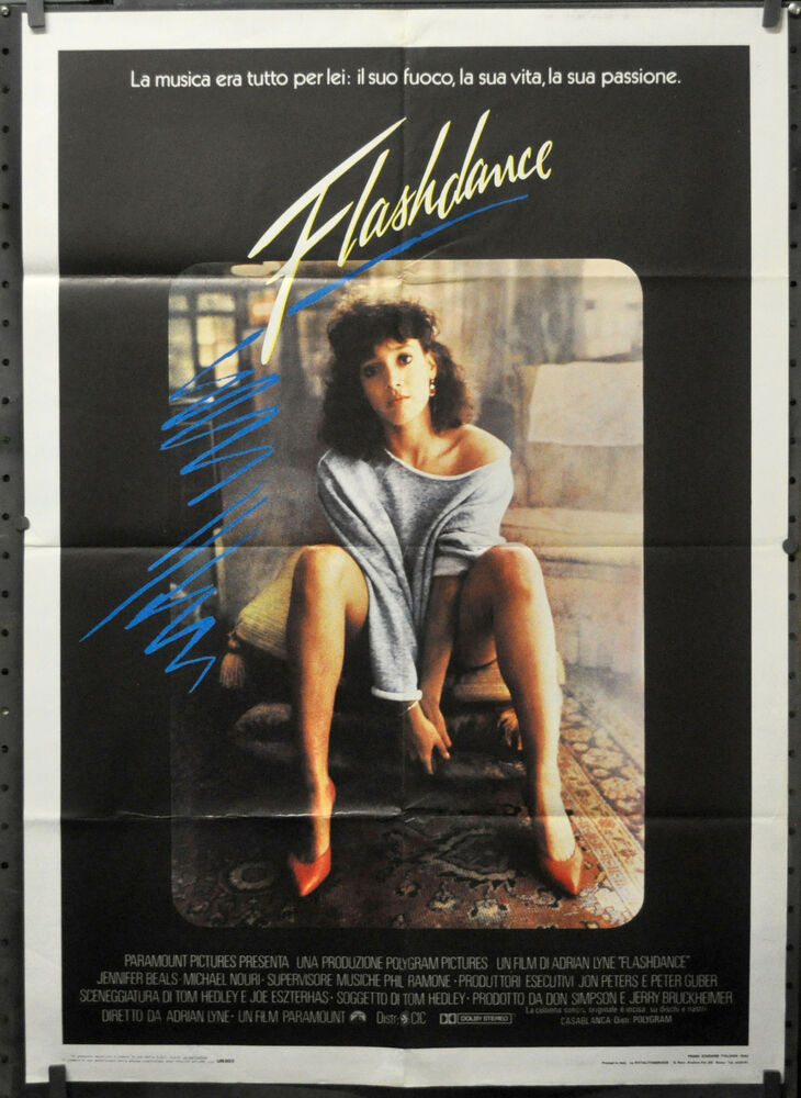 FLASHDANCE 1983 ORIG 39X55 ITALIAN MOVIE POSTER JENNIFER ...