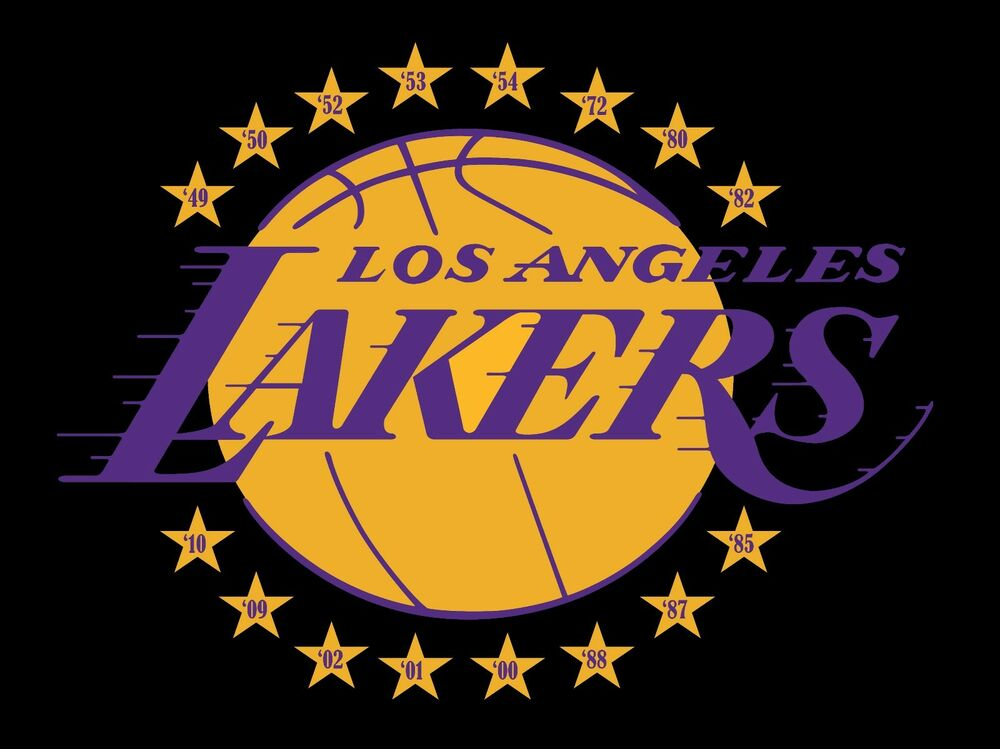 Los angeles lakers with 16 stars and championship years - Black lakers logo ...
