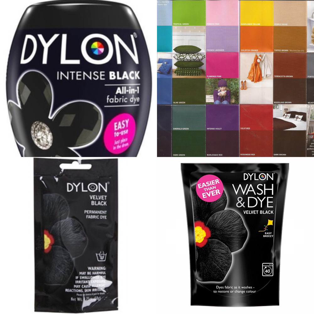 Dylon Machine wash & Dye Hand Clothes & Fabric Dye - Black ...