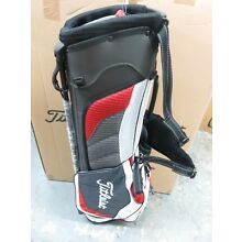 NEW Titleist CHARCOAL WHITE RED TB4SX1 - 116c Bag 3 Way Ultra Light Stand Carry