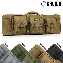 SAVIOR EQUIP Tactical Double Rifle Bag Gun Range Padded Soft Case 36