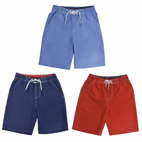 35171db8a7 Details about Boys Teens Red Blue Navy Swim Shorts Trunks Holiday Swimming  6-13 Years