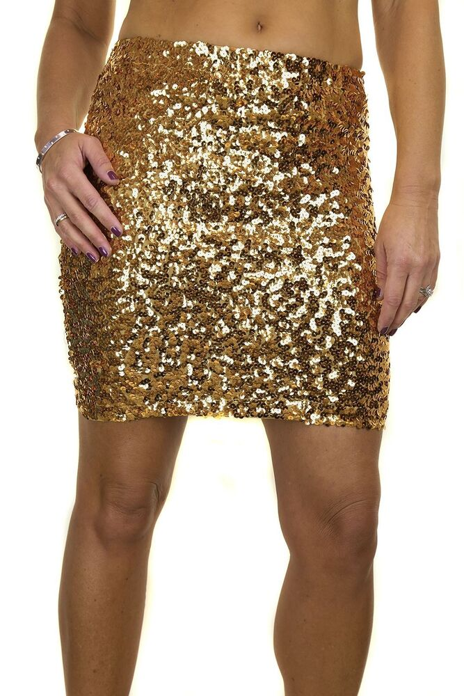 ICE Sequin All Over Stretch Mini Skirt Black 6-14 2548-1