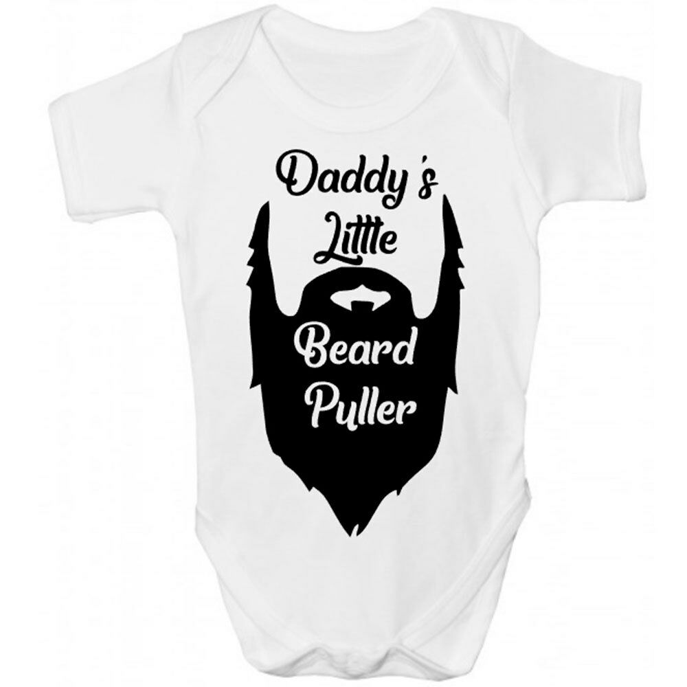 0b710902a Details about Daddy's Little Beard Puller Baby Grow - Cute Babies Bodysuit  Clothing