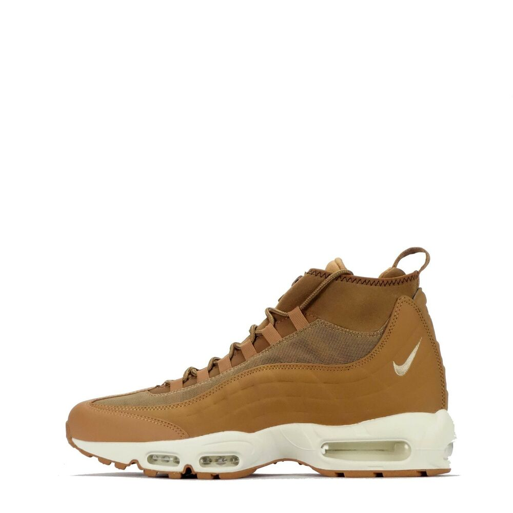 e1acaf6e7f Details about Nike Air Max 95 Sneakerboot Men's Mid Style Shoes in Flax/Ale  Brown