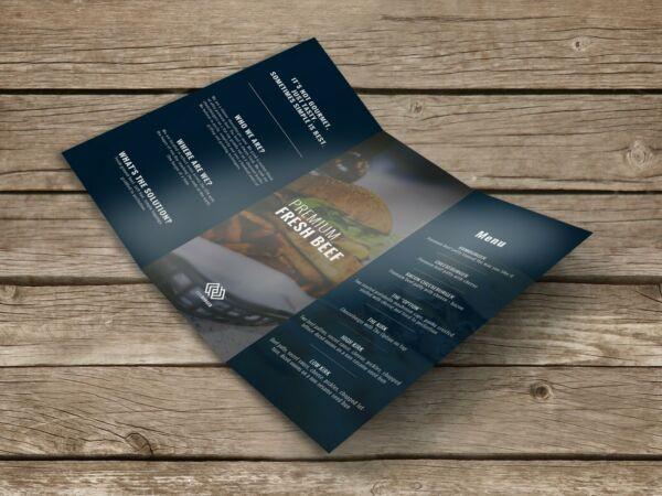 1000 8.5x11 Tri-Fold Full Color Glossy Brochures Flyers High Quality Printing