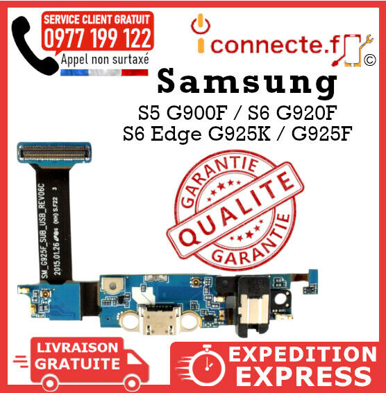 CONNECTEUR DE CHARGE SAMSUNG GALAXY S5 G900F / S6 G920F / S6(EDGE) G925K / G925F