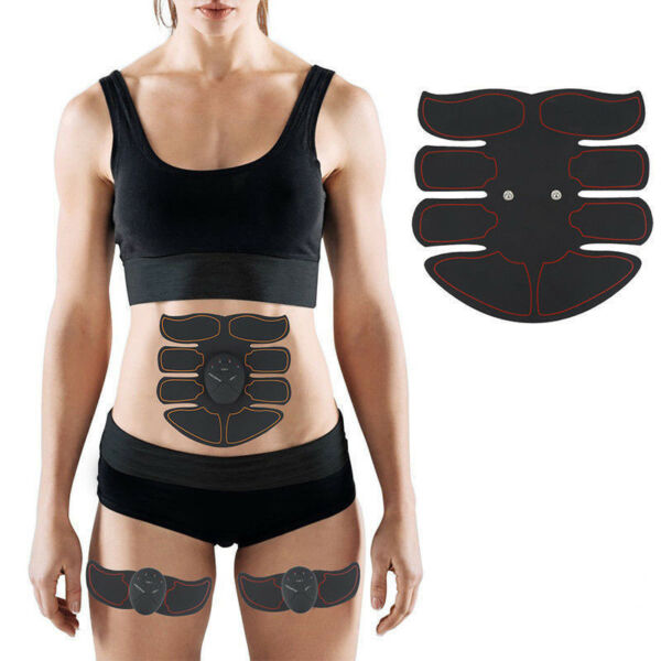 Intelligent EMS Fitness Abdominal Muscle Trainer ABS Stimulator Toner Kit Cool