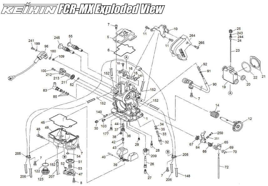 Terrific Keihin Fcr Mx Carburetor Fcr Mx Float Bowl With Leak Jet Wiring 101 Capemaxxcnl