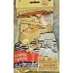 WOODSHOP HELICOPTER COMPLETE WOOD KIT WITH ROTATING PROPELLER EASY TO ASSEMBLE