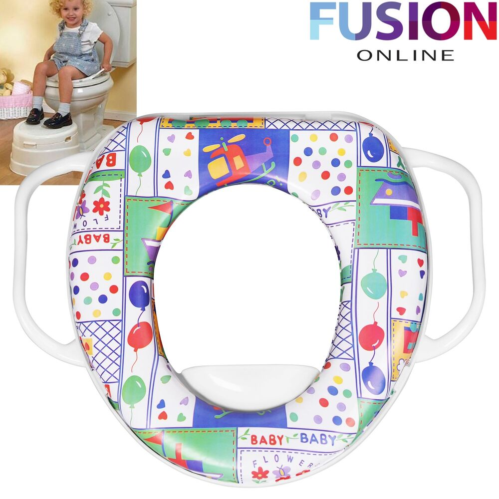 Potty Training Toilet Seat Baby Soft Padded With Handles