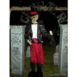 ANIMATED 6 FOOT 9'' LIFE SIZE GUARDIAN of CEMETERY BATS HALLOWEEN PROP