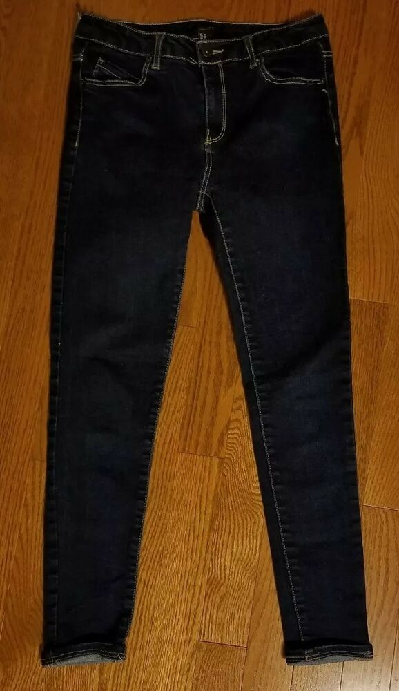 d5d95d33966 Details about Women s Forever 21 Waist Size 27 Small Slim Skinny Stretch  Washable Blue Jeans