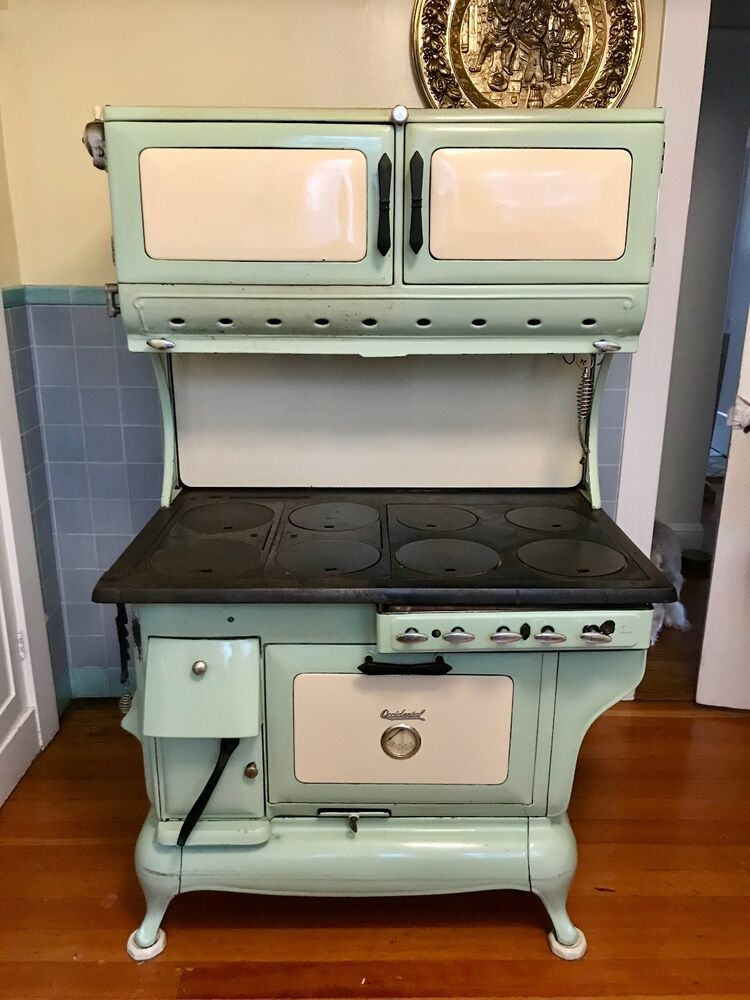 Antique Stove 1880 S Hybrid Gas And Wood Cook Stove Ebay