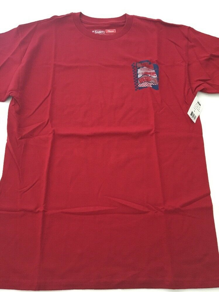 11d8cb9630 Details about New VANS Off The Wall Men s Tee Skater Surfer Street Active  Fit T Shirt Size M