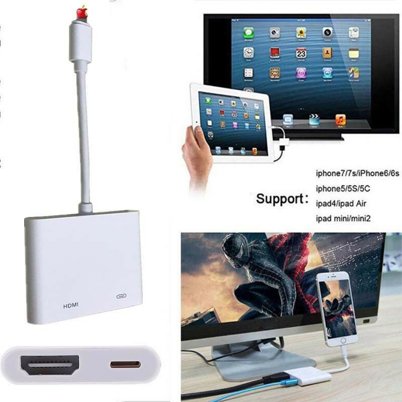 Lightning to Digital AV TV HDMI Cable Adapter For iphone X 6/6S/7/8 ...