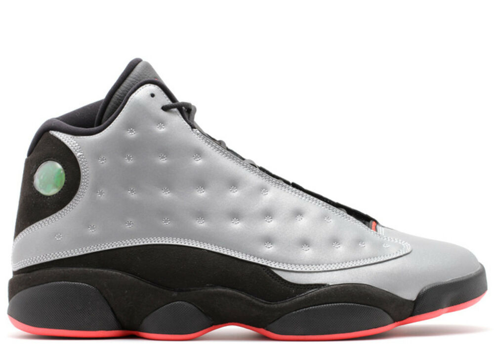 sneakers for cheap 95aad 0f362 Details about Mens Nike Air Jordan 13 Retro Prm - 696298 023 - Reflective  Silver Black Train