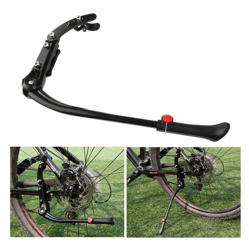 Heavy Duty Adjustable Mountain Bike Bicycle Kick Cycle Prop Side Rear Stand VC