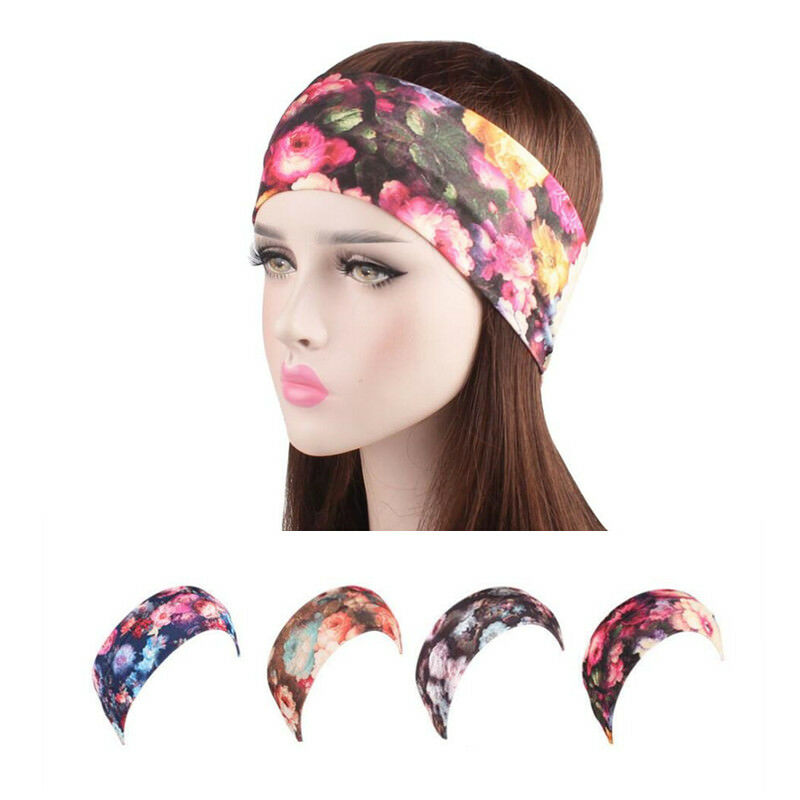 Details about 20 7cm European Girl Elastic Sport Yoga Turban Headband Wide  Stretch Headbandge 002f6264ba5