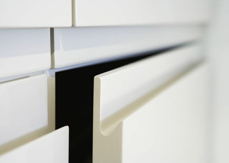 High Gloss White Replacement Kitchen Cabinet Unit Doors: Replacement Handleless Kitchen Drawer Cabinet Unit Doors