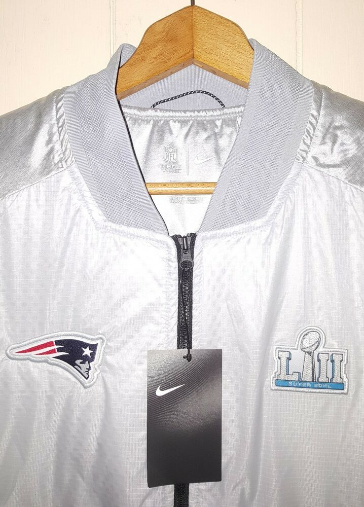 383067c95 Details about Nike New England Patriots Super Bowl LII 52 Media Night Jacket  Sz Large NWT  225