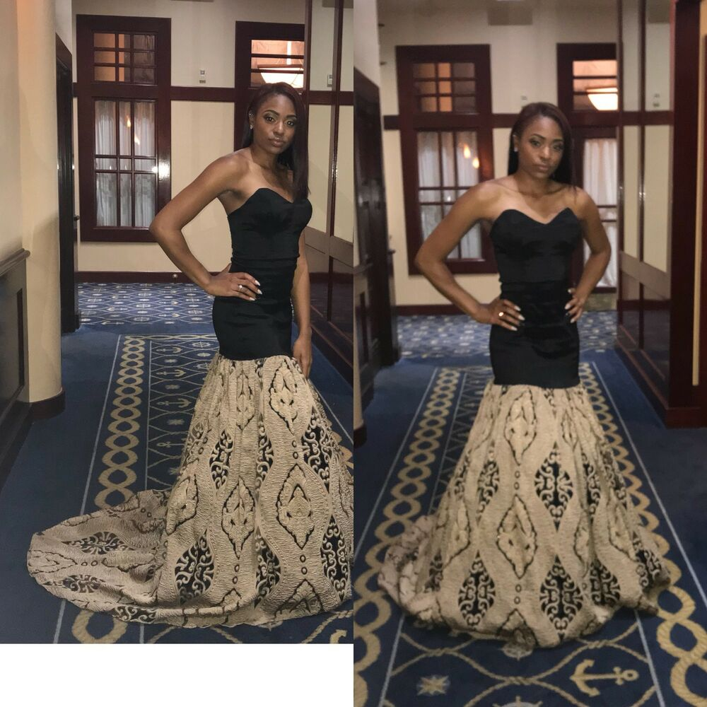 3e4d4db4202a Black And Gold Ball Gown Prom