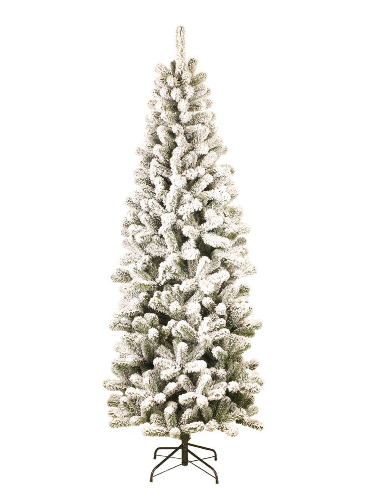 b51813a769e Details about King of Christmas 6  unlit Prince Flocked Pencil Artificial  Christmas Tree