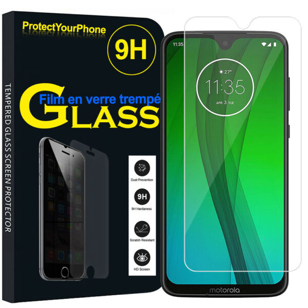 Vitre De Protection Transparent Écran Film Verre Trempe Model Motorola
